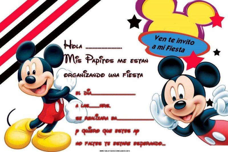 tarjetas de cumpleaños de mickey mouse 10 - ven te invito a mi fiesta