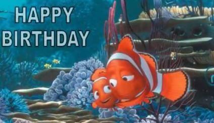 tarjetas de cumpleaños de nemo 2 - happy birthday