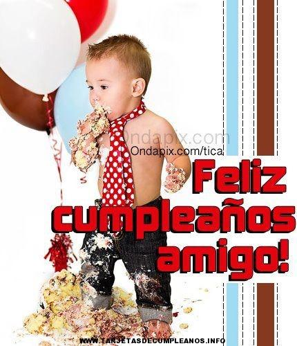 tarjetas de cumpleaños graciosas 10 bebe manchado de tarta