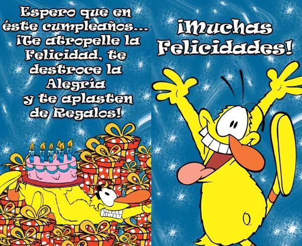 tarjetas de cumpleaños graciosas 13 espero que en este cumpleaños...