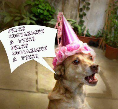 tarjetas de cumpleaños graciosas 14 perro cantando