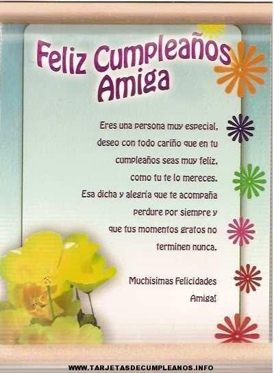 tarjetas de cumpleaños para una amiga 1