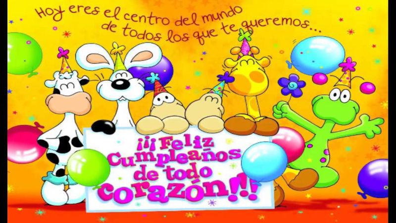 tarjetas de cumpleanos infantiles 7 hoy eres el centro del mundo de todos los que te queremos
